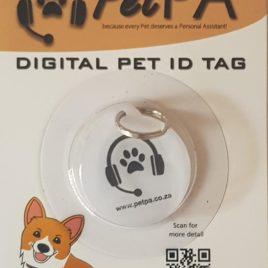 White Pet Digital ID Tag