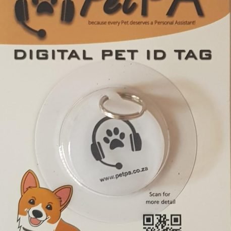 White Pet Digital ID Tag